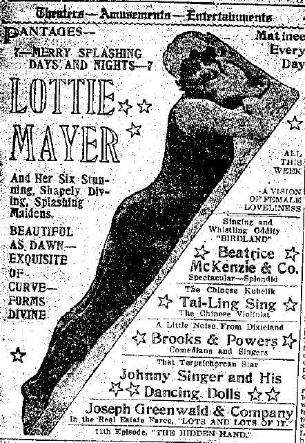 Brooks and Powers ad in LA Times, 3/10/1918